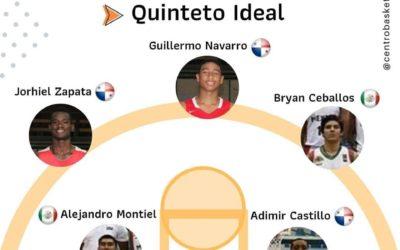Tres panameños en el Quinteto Ideal del Centroamericano Masculino Sub-16