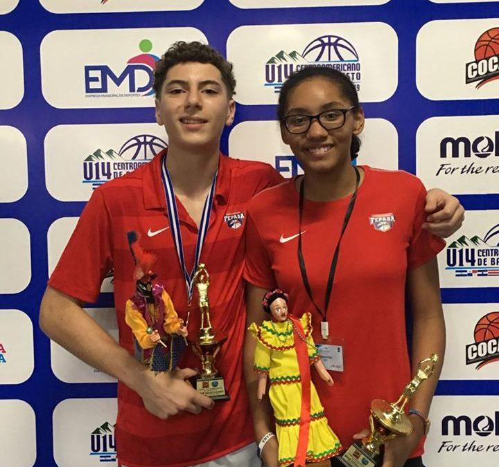 Valeria Batista y Sebastián Bósquez premiados en el Centroamericano Sub-14 – 2019