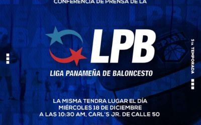 Conferencia de prensa de la V temporada de la LPB será el miércoles 18.