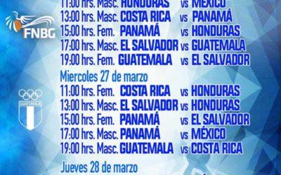 Calendario del Centroamericano Sub-16
