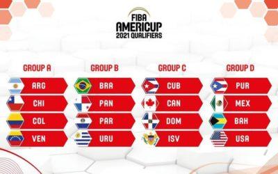 Resultados del Sorteo para los Clasificatorios del FIBA AmeriCup 2021