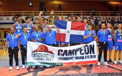 Dominicana campeón del Centrobasket U15