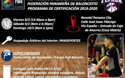 Hoy inicia el Campo de Entrenamiento de Arbitros de FIBA Américas